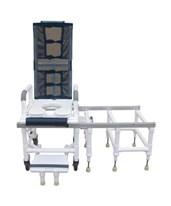 Deluxe Tilt-N-Space Dual Shower Commode and Transfer Bench MJMD118-5-TIS-SLIDE