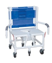 "26"" Bariatric Shower Chair with Double Drop Arms and Full Support Seat MJMS126-5BAR-DDA-"