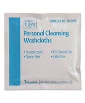 HYGEA Individually Packed Personal Cleaning Washcloths - 400/cs PDIU12095