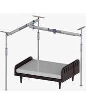 Pressure Fit 3-Post Free Standing Track System PRS341505-