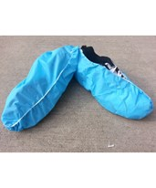 Blue Anti-Skid Polyethylene Shoe Covers SNTT1200-70-10-