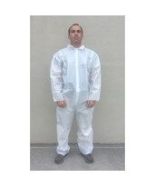 White SunSoft Coveralls with Front Zipper SNTT12120-SM-