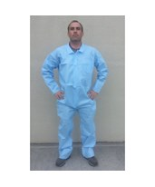 Blue Lightweight Polypropylene Coveralls with Zipper Front SNTT3101-50