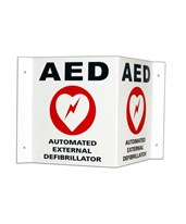 3D Wall Sign/Door Decal for Powerheart AED Defibrillators CAR168-6002-001