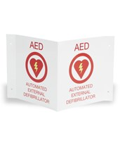 "AED Plus Wall Sign, Flat, 8 ½"" x 11"" ZOL8000-0825"