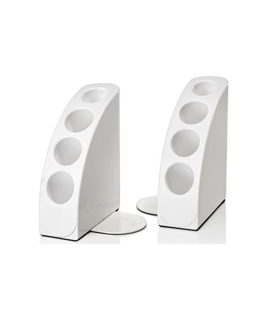 Smart Quarter Bookends - White 651-02-WHI