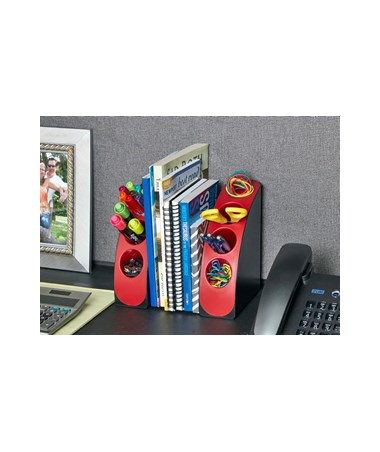 Smart Quarter Bookends 651-02-RED