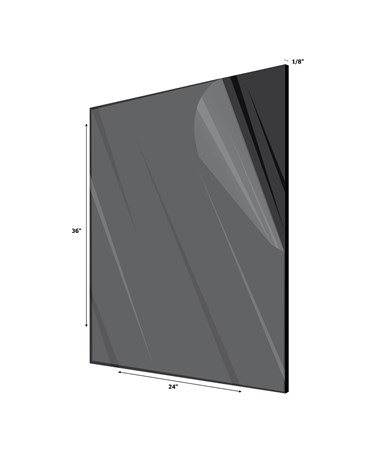 "Acrylic Plexiglass Sheet 1/8 Inches Thick 24"" x 36"" Black"