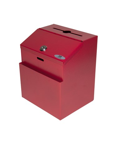 Steel Suggestion Box - Red ADI631-01-RED