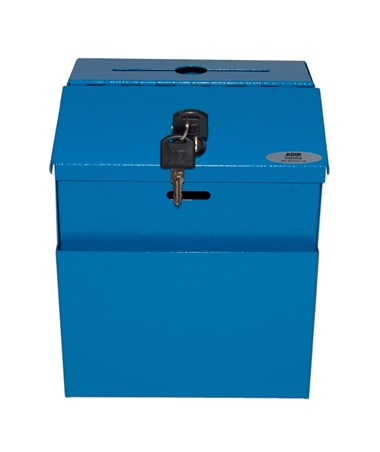 Steel Suggestion Box Blue - Front ADI631-01-BLU