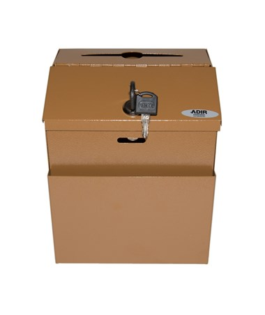 Steel Suggestion Box- Coffee ADI631-01-COP