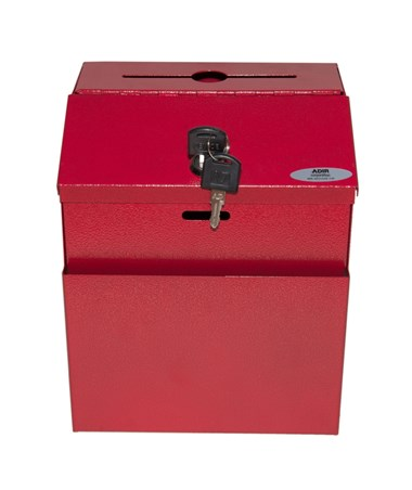 Steel Suggestion Box Red -