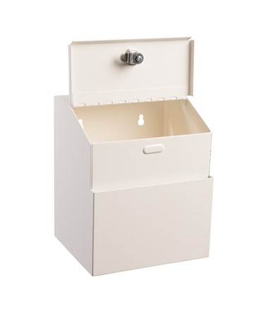 Steel Suggestion Box - White ADI631-01-WHI