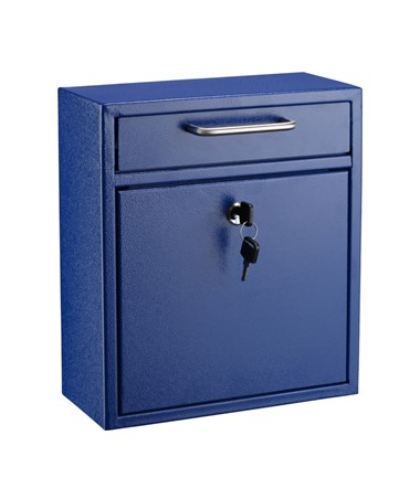 AdirOffice Ultimate Wall Mounted Drop Box - Medium - Blue