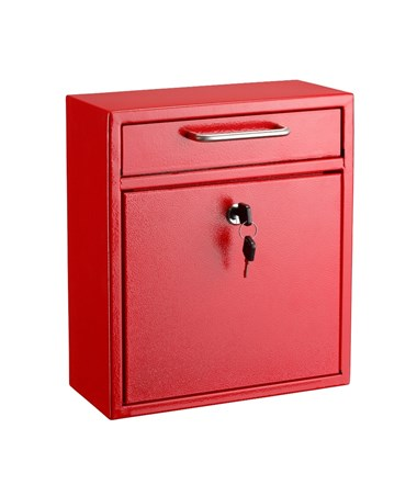AdirOffice Ultimate Wall Mounted Drop Box - Medium - Red