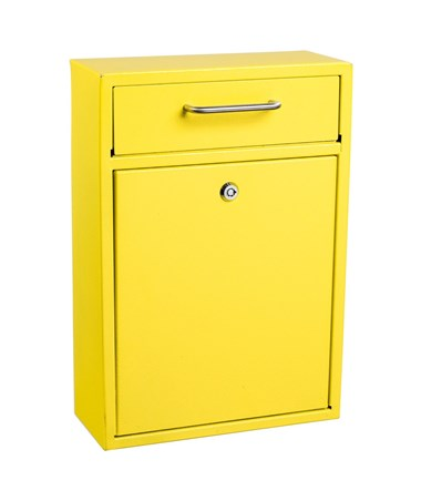 AdirOffice Ultimate Wall Mounted Drop Box - Large - Yellow