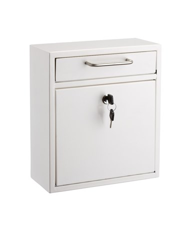 AdirOffice Ultimate Wall Mounted Drop Box - Medium - White