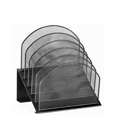 Mesh 5 Slot Desktop Incline Organizer ADI634-01-BLK