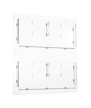 Hanging Magazine Rack with Adjustable Pockets ADI640-2023-CLR-