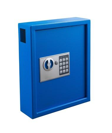Adiroffice Secure 40 Key Cabinet With Digital Lock Adi680 Blu