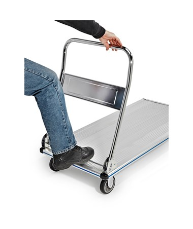AdirOffice Folding Aluminum Platform Truck 48'' x 24'' ADI690-00 - Folding handle