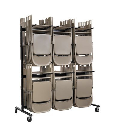 AdirOffice Two Tier Folding Chair Cart