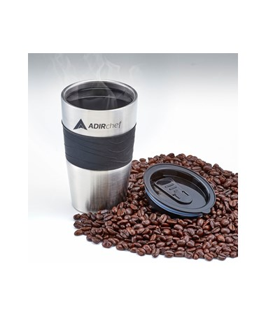All Stainless 15-oz Travel Mug - Black