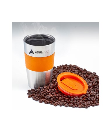 All Stainless 15-oz Travel Mug - Orange