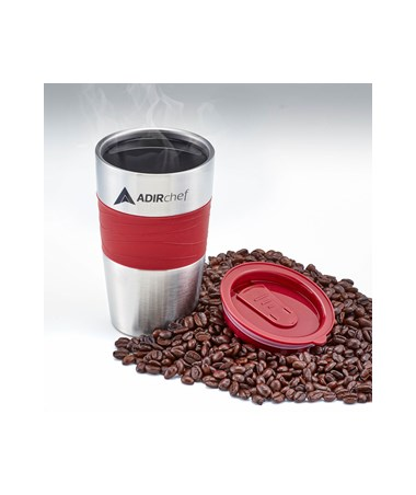 All Stainless 15-oz Travel Mug - Ruby Red