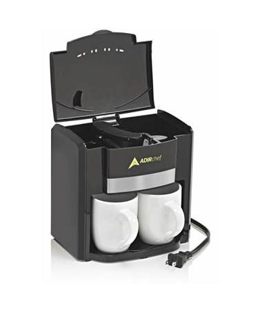 "AdirChef ""BFF"" Coffee Maker for Two ADI800-02-BLK"