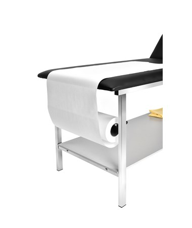AdirMed Adjustable Treatment Table with Full Shelf and Paper Towel Dispenser