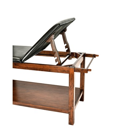 Wooden Exam Table with Full Shelf - 2