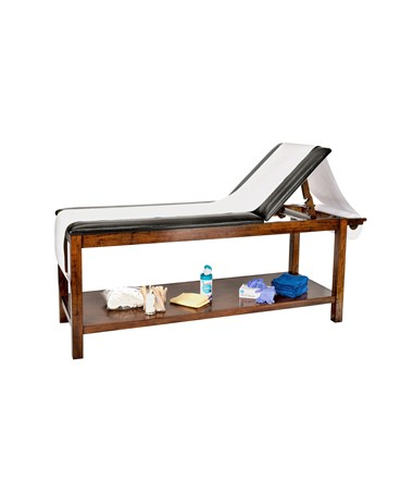 Wooden Exam Table with Full Shelf - 5