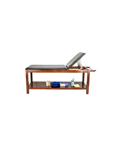 Wooden Exam Table with Full Shelf - 6