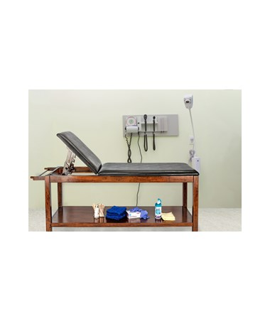Wooden Exam Table with Full Shelf - 8