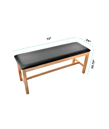 Dimensions of the AdirMed Flat Top Treatment Table
