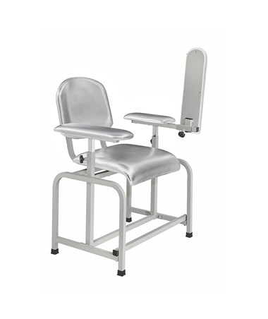AdirMed Padded Blood Drawing Chair - Grey, Front 1