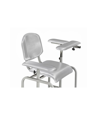 AdirMed Padded Blood Drawing Chair - Grey, Rotated