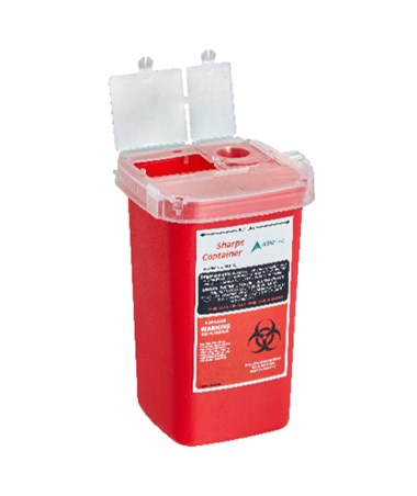 Sharps and Needle Disposal Container 1 Quart - Single Pack (Open Preview)