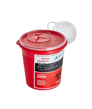 Sharps Container 1.5 Quart Round-Shaped - Single Pack (Open Preview)