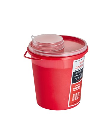 Sharps Container 1.5 Quart Round-Shaped - Single Pack (Closed Preview)