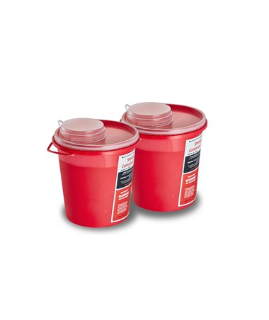 Sharps Container 1.5 Quart Round-Shaped - 2 Pack