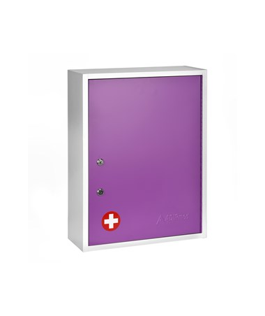 AdirMed Large Steel Medication Cabinet, Dual Lock - Purple