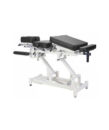 Chiroma Chiropractic Table with 8 Section Top - Black