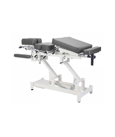 Chiroma Chiropractic Table with 8 Section Top - Grey