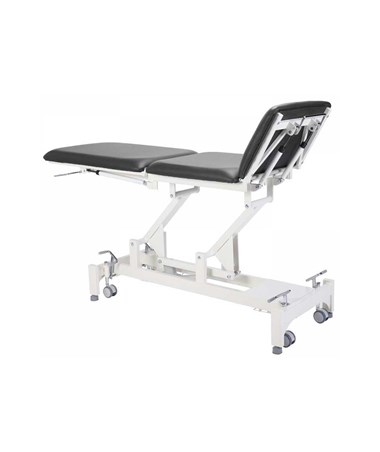 AdirMed Tristar Treatment Table with 3 Section Top - Black