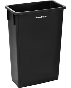 23-Gallon Slim Trash Can ALP477-BLK
