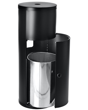 Alpine Stainless Steel Floor Stand Wet Wipe Dispenser with Trash Can ALP4777-BLK
