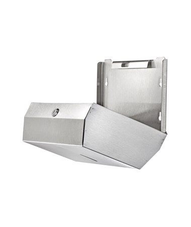 Alpine Industries C-Fold/Multifold Paper Towel Dispenser, Stainless Steel Brushed ALP481S