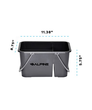 Alpine 4-Compartment Plastic Cleaning Caddy ALP486-4 - Dimensions